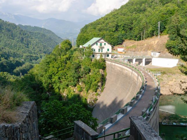 La presa hidroeléctrica que se construyo en di Careggine